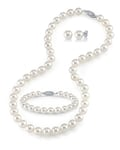 8-9mm Freshwater Pearl Necklace, Bracelet & Earrings
