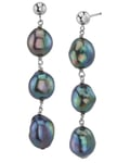 Black Freshwater Pearl Becca Earrings