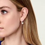 Freshwater Pearl & Diamond Eliza Earrings - Model Image