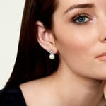 Akoya Pearl & Diamond Faye Earrings - Model Image