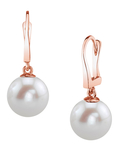 Freshwater Pearl Classic Elegance Earrings - Secondary Image