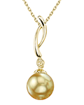 Golden Sea Pearl & Diamond Madison Pendant
