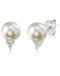 Akoya Pearl & Diamond Grace Earrings