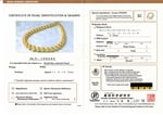 11-13mm Golden South Sea Pearl Necklace - AAAA Quality - Model Image