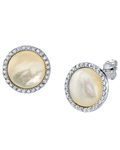 White Mother of Pearl Darcie Earrings