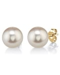 9mm White Freshwater Pearl Stud Earrings - Third Image