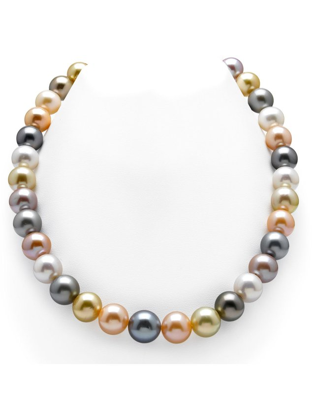 10-12mm South Sea & Freshwater Multicolor Pearl Necklace - AAA Quality