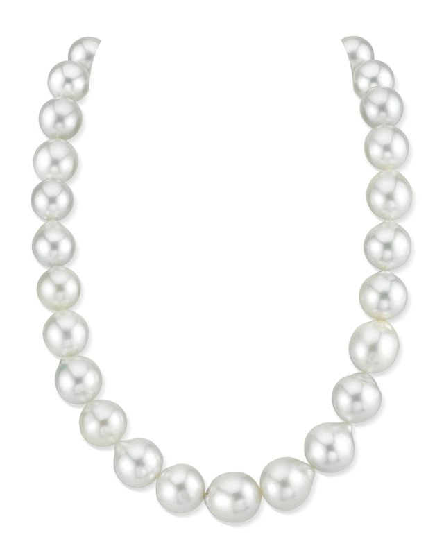 13-15mm White South Sea Baroque Pearl Necklace