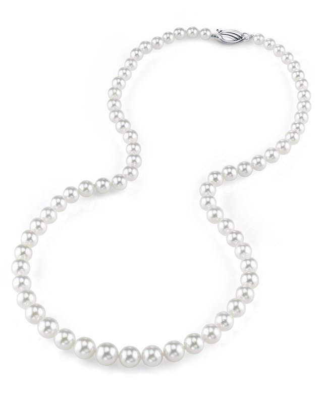 6.0-9.0mm Japanese Akoya White Pearl Necklace