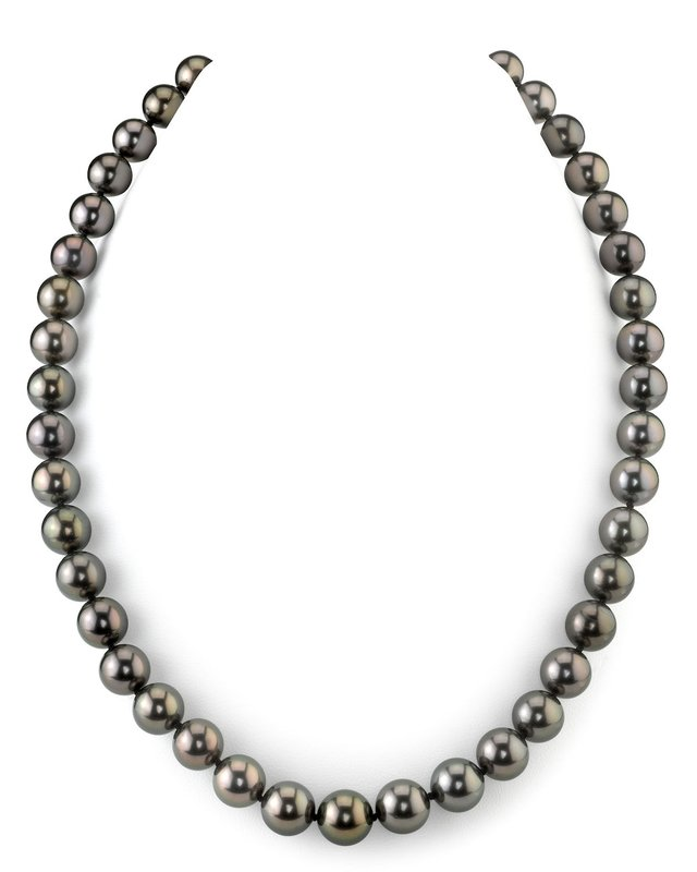 8-10mm Peacock Tahitian South Sea Pearl Necklace - AAAA Quality