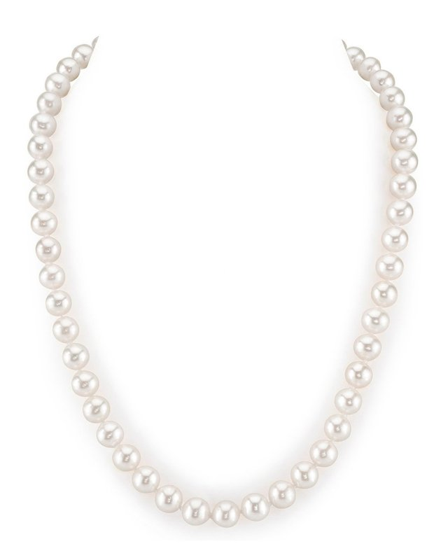 8-9mm White Freshwater Choker Length Pearl Necklace