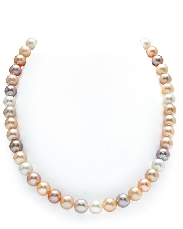 8-9mm Freshwater Multicolor Pearl Necklace - AAA Quality
