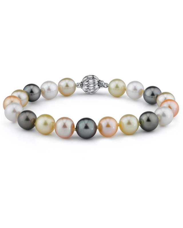 10-11mm South Sea & Freshwater Multicolor Bracelet- AAA Quality