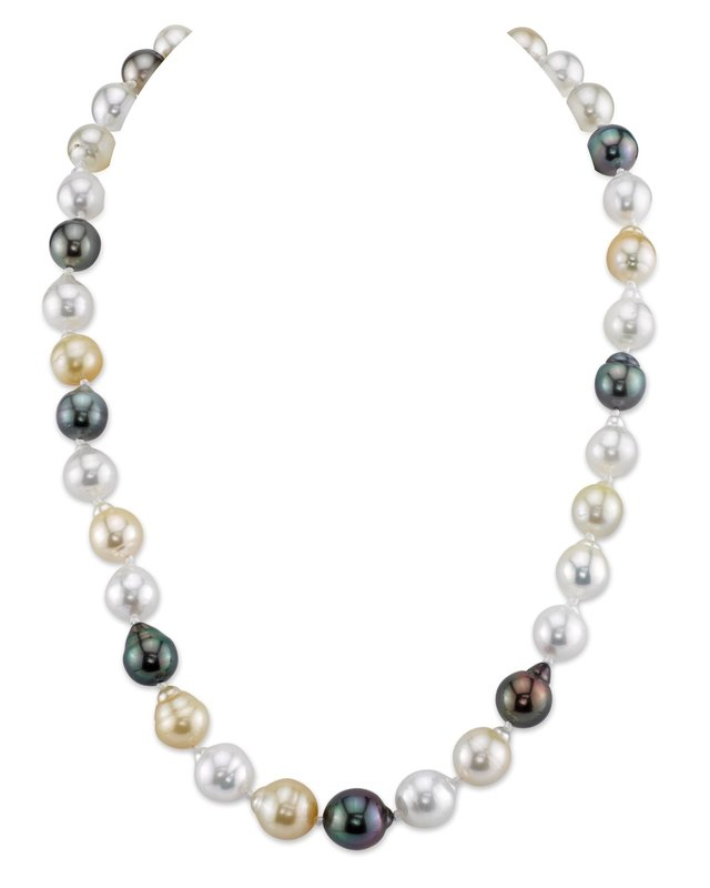8-10mm South Sea Multicolor Baroque Pearl Necklace