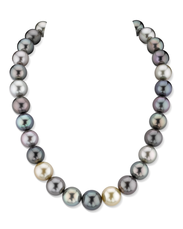13-15mm South Sea Multicolor Necklace- AAAA Quality