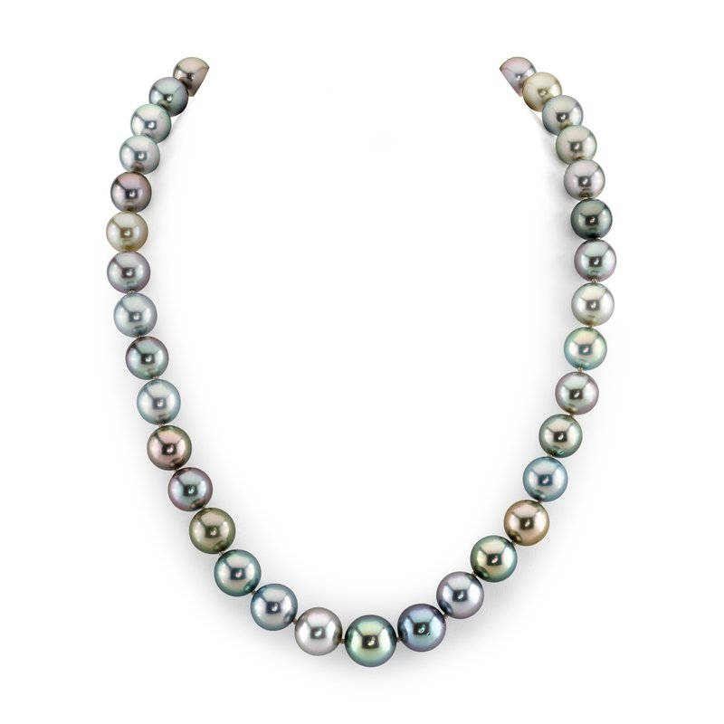 10-12mm Tahitian South Sea Pearl Pastel Multicolor Necklace - AAAA Quality
