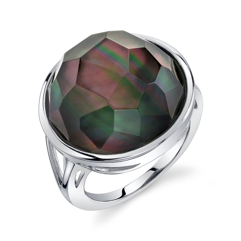 Black Mother of Pearl Malia Ring