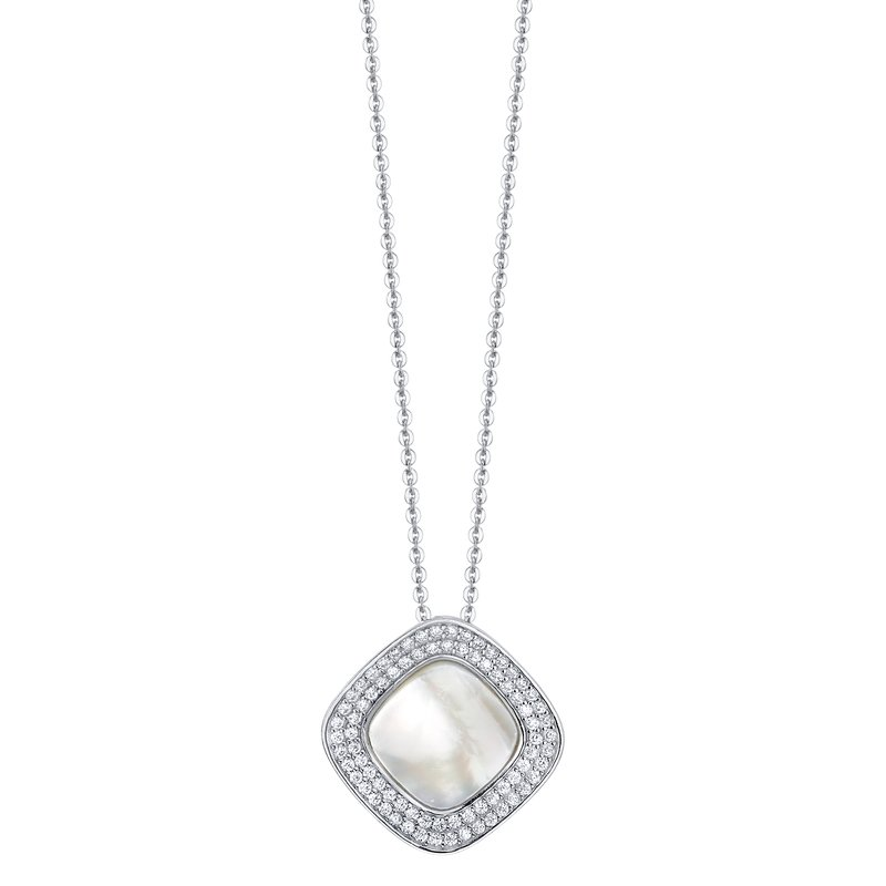 White Mother of Pearl Valentina Pendant Necklace