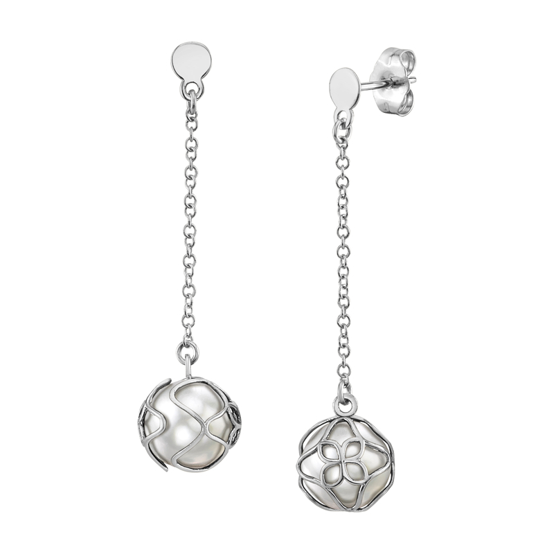 White South Sea Pearl Cora Earrings