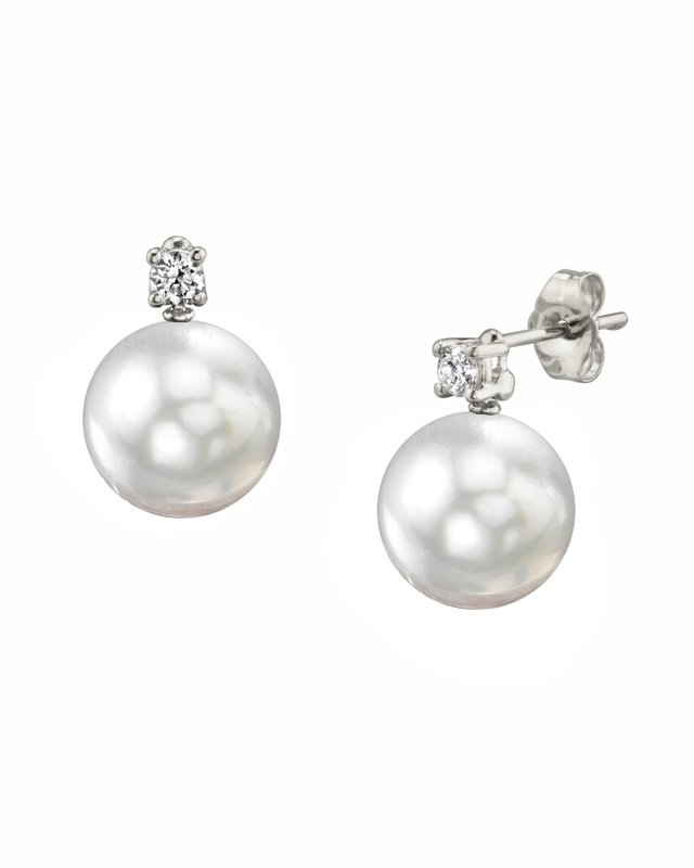 White South Sea Pearl & Diamond Ellie Earrings