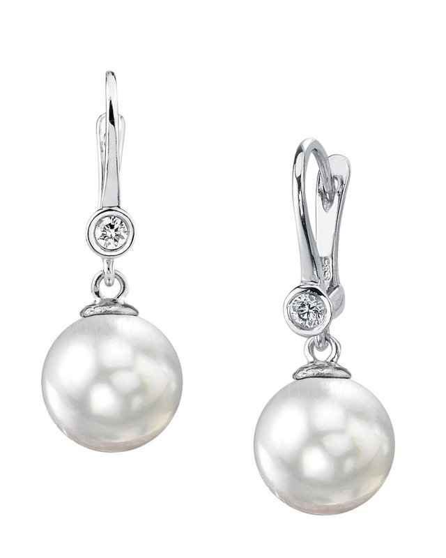 South Sea Pearl & Diamond Michelle Earrings