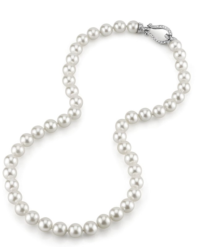 8.5-9.0mm Hanadama Akoya White Pearl Necklace