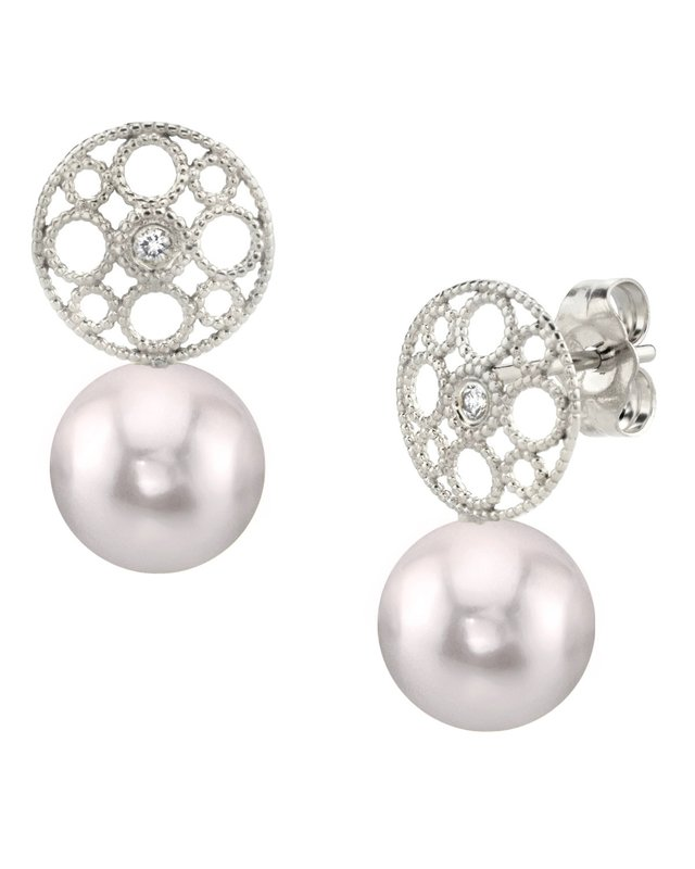 Akoya Pearl & Diamond Faye Earrings