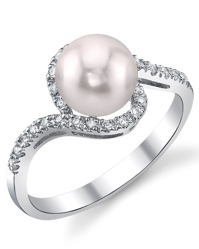 Akoya Pearl & Diamond Cheryl Ring