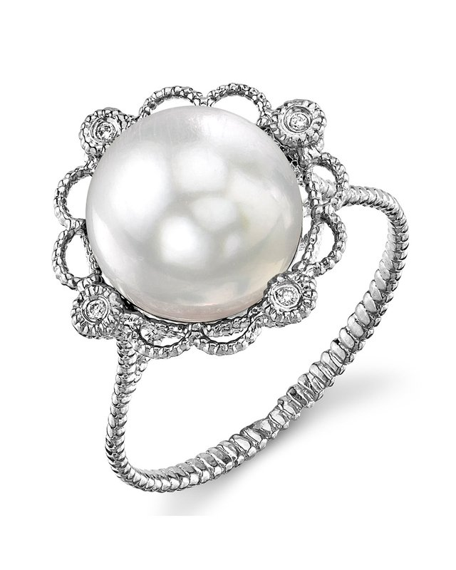 White South Sea Pearl Lea Ring