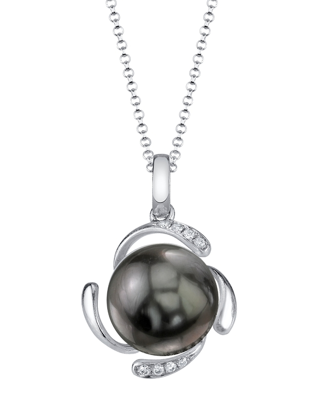 Tahitian South Sea Pearl & Diamond Debra Pendant