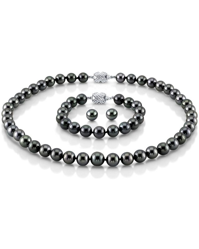 8-10mm Tahitian South Sea Pearl Set