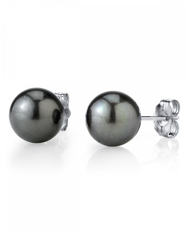 11mm Tahitian South Sea Pearl Stud Earrings- Various Colors