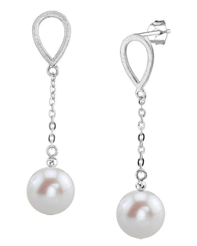 14K Gold Freshwater Pearl Vera Tincup Earrings
