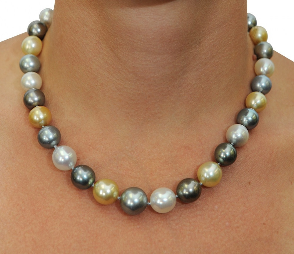 11 14mm Tahitian Amp Golden South Sea Pearl Necklace