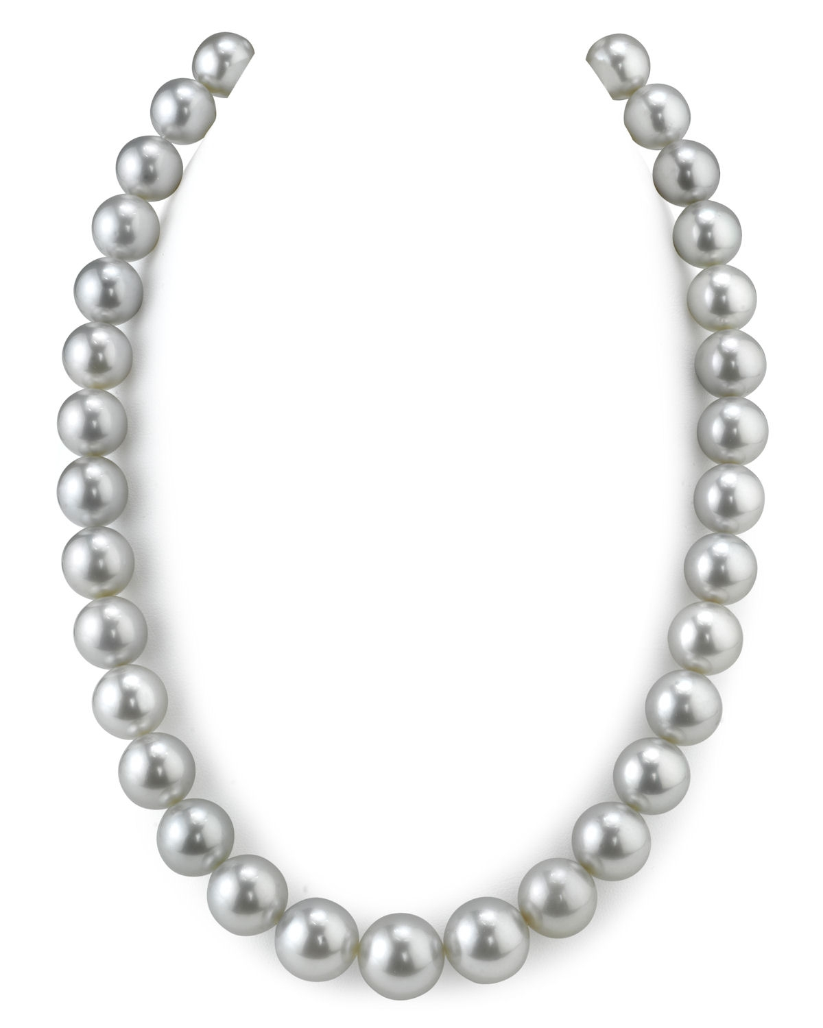 RARE 11-14.2mm Platinum Tahitian South Sea Pearl Necklace ...