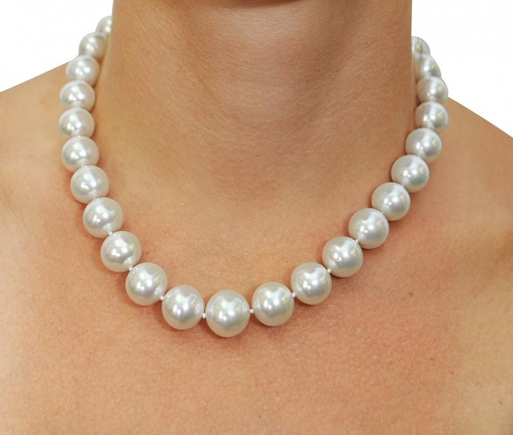 1795c60ddbd64 12-15mm White South Sea Pearl Necklace