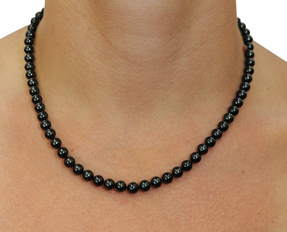 5 0 japanese akoya black pearl necklace aa quality. Black Bedroom Furniture Sets. Home Design Ideas