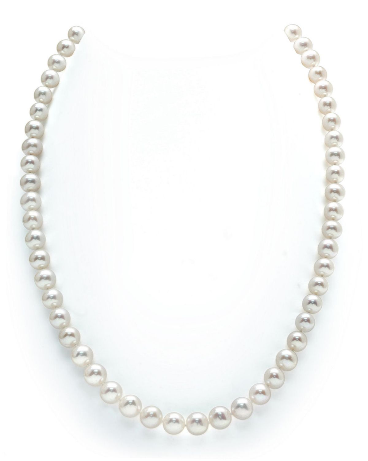 c5bc534b5 7-8mm White Freshwater Pearl Necklace - AAAA Quality