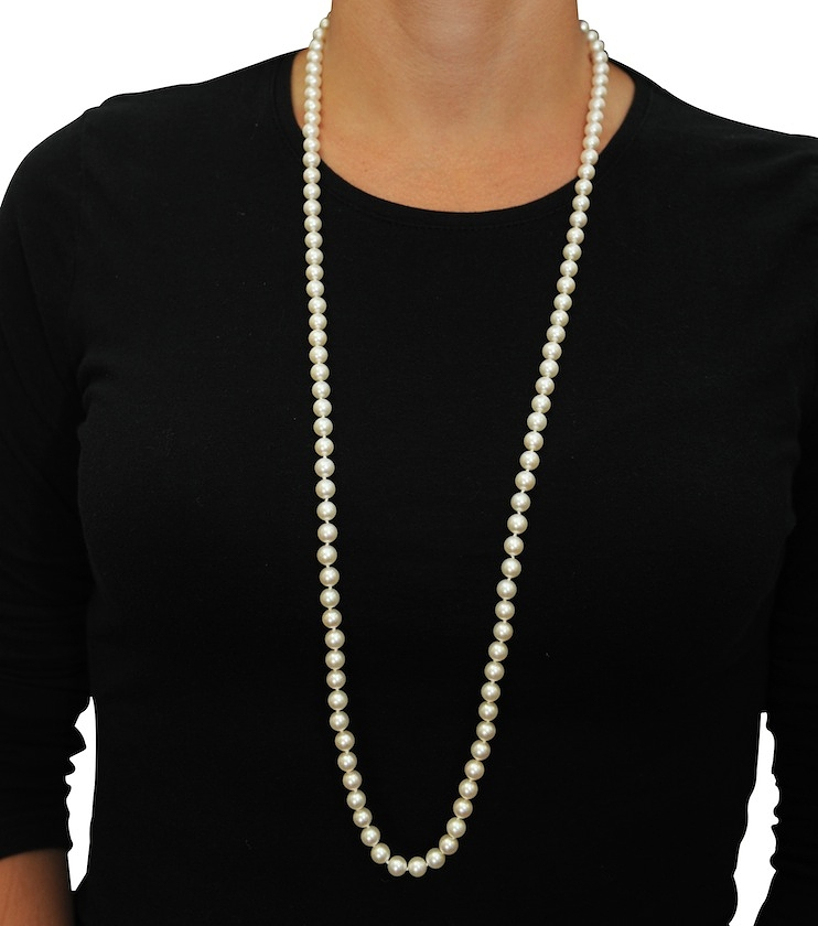 7 8mm Opera Length Freshwater Pearl Necklace