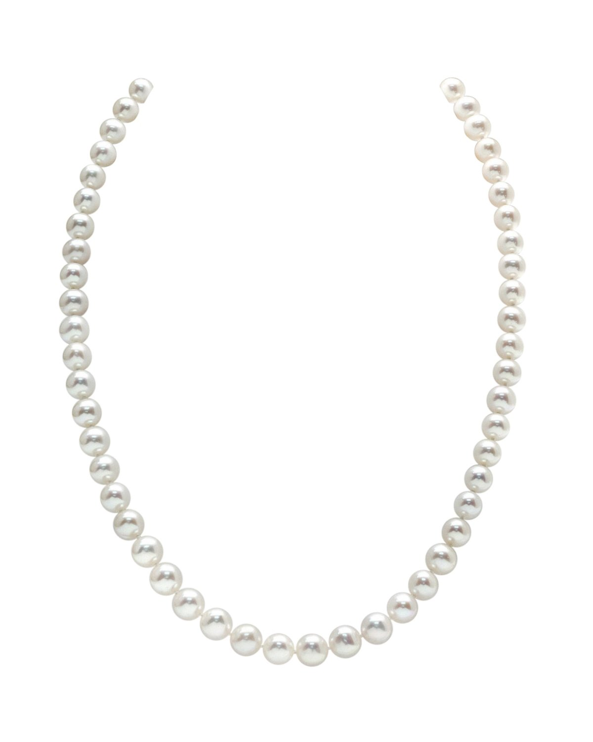 b9e3f615c 7-8mm White Freshwater Pearl Necklace