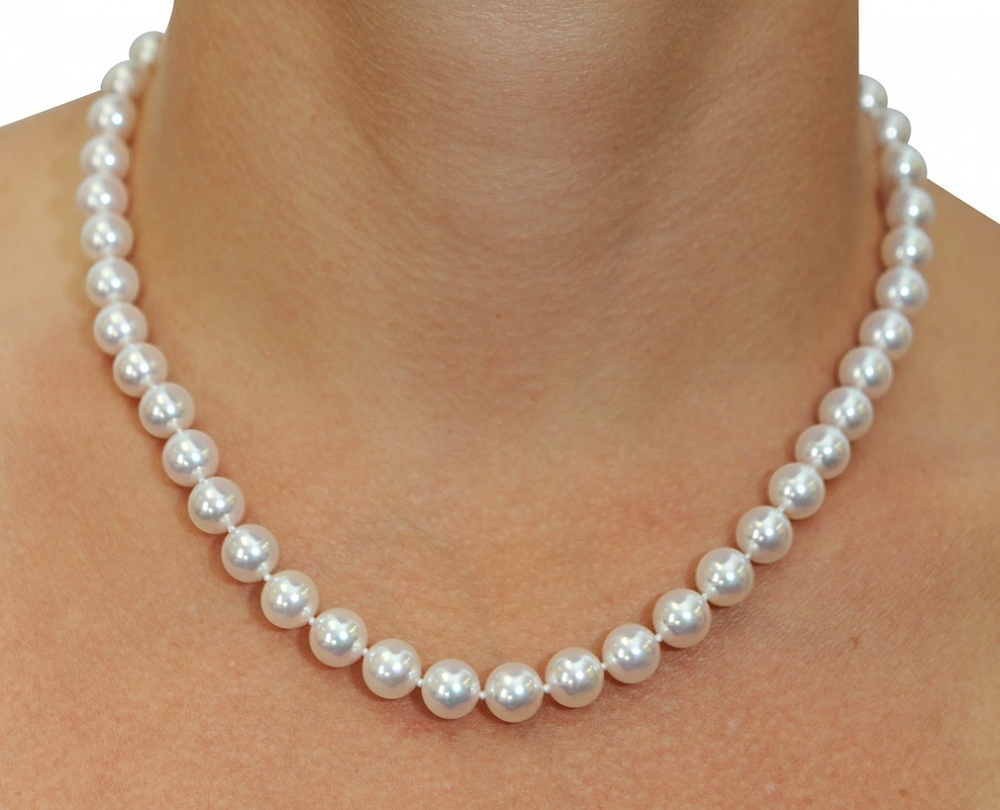 White Akoya Pearl Necklaces | Shop Pearl Necklaces | The ...