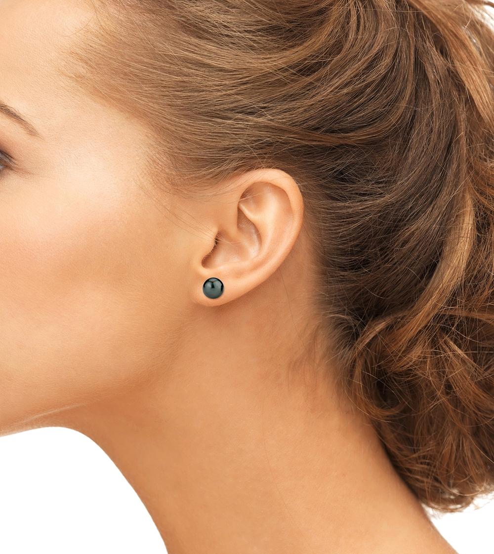 8mm Tahitian South Sea Pearl Stud Earrings- Various Colors