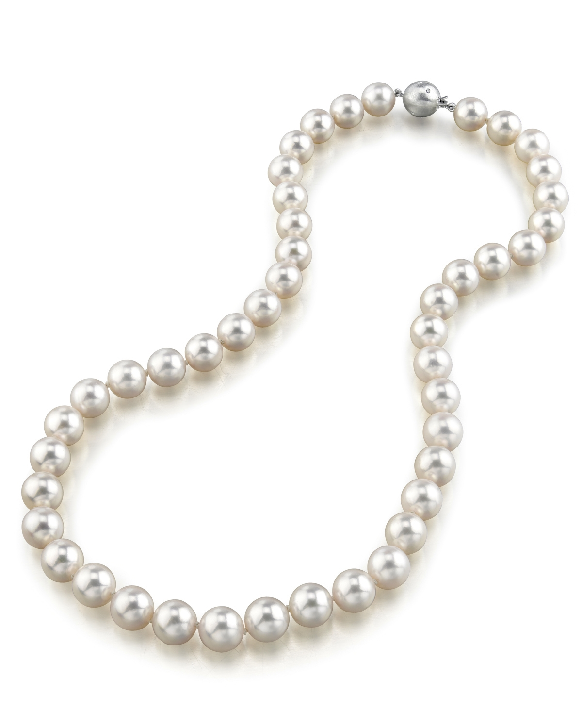 9 5 10mm Hanadama Akoya White Pearl Necklace