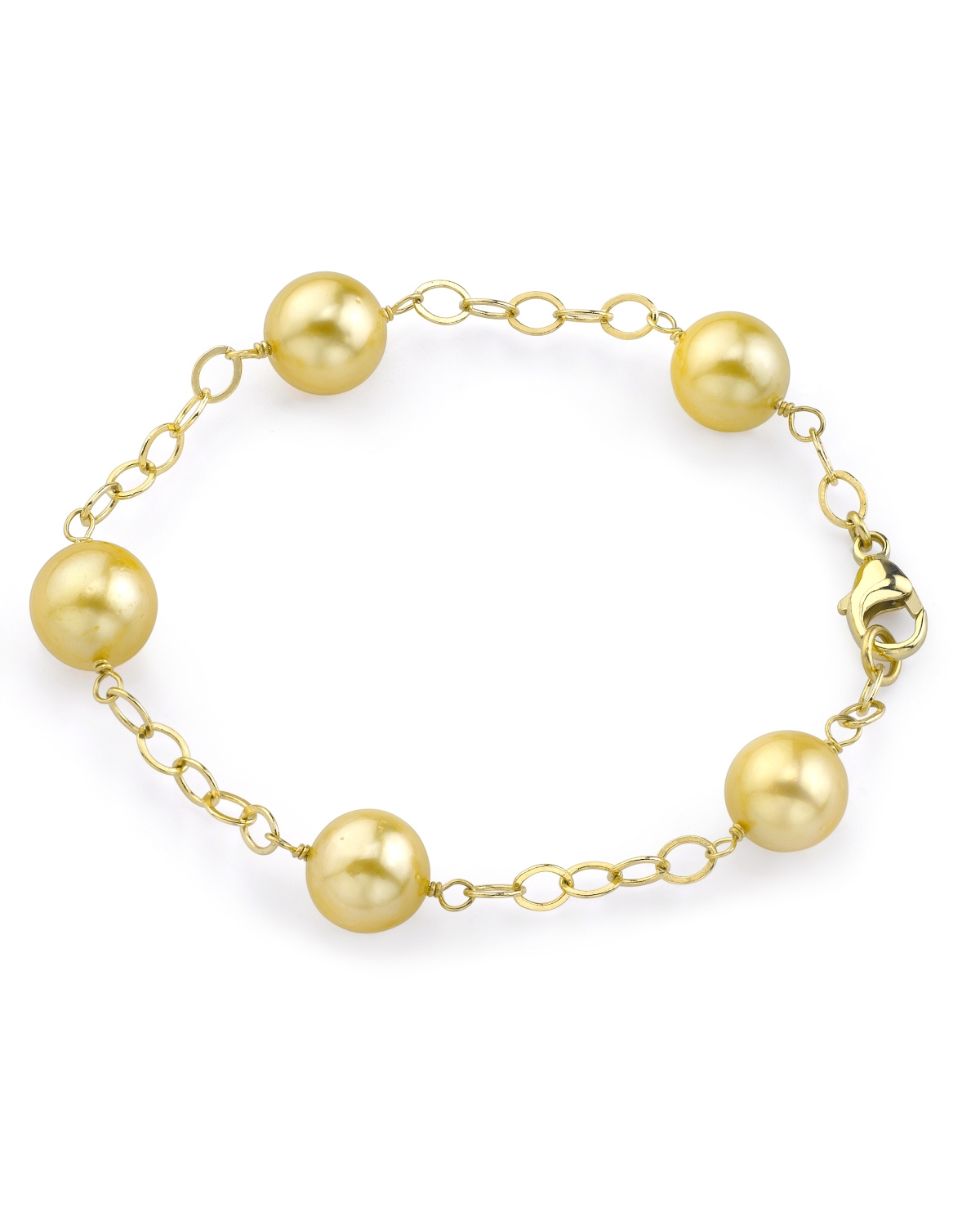 4c1a8b63f8060 9-10mm Golden South Sea Pearl Tincup Bracelet