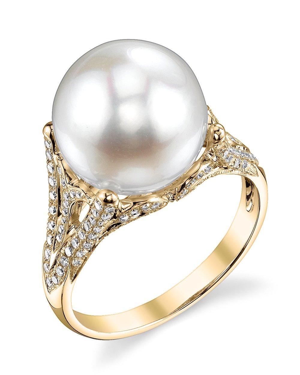 buy white south sea pearl diamond gabriella ring for. Black Bedroom Furniture Sets. Home Design Ideas
