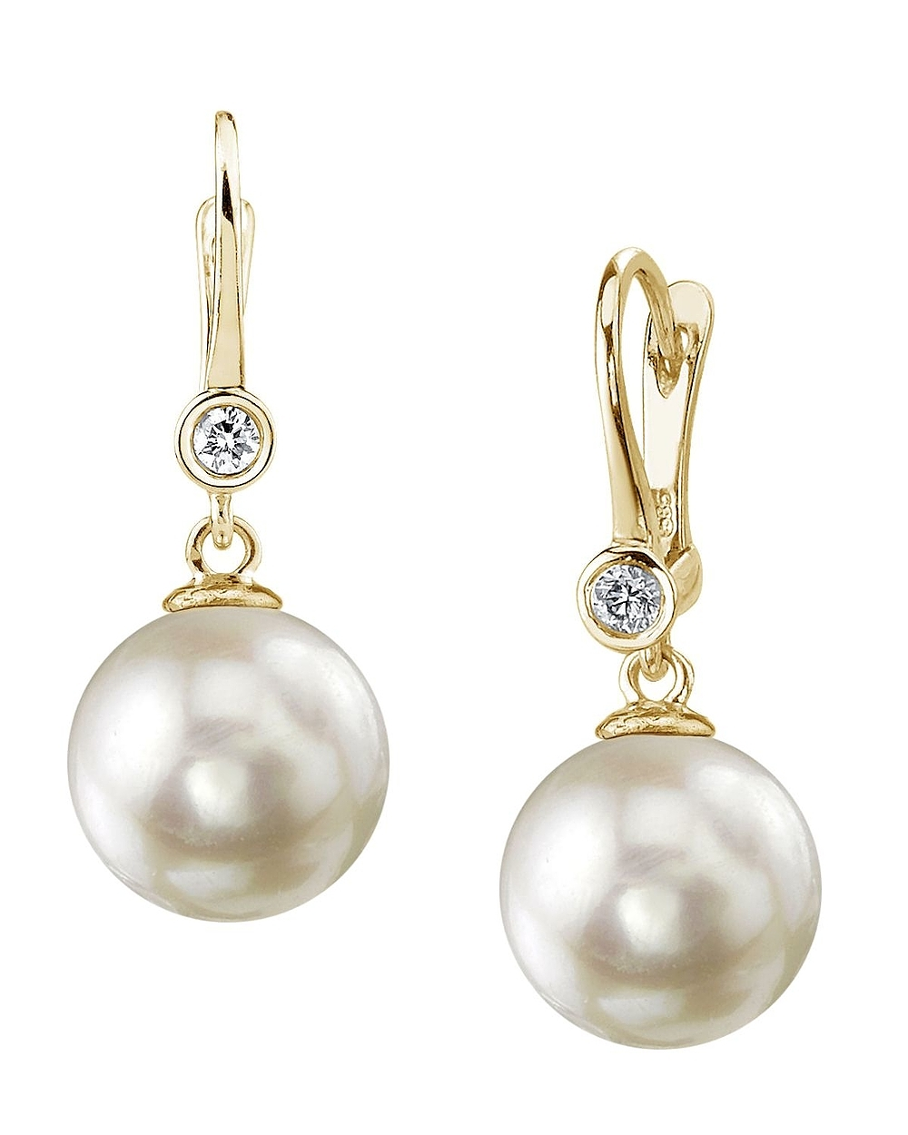Akoya Pearl & Diamond Michelle Earrings- Choose Your Pearl ...