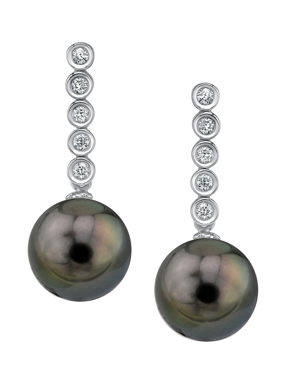 Tahitian Pearl & Diamond Maya Earrings | eBay