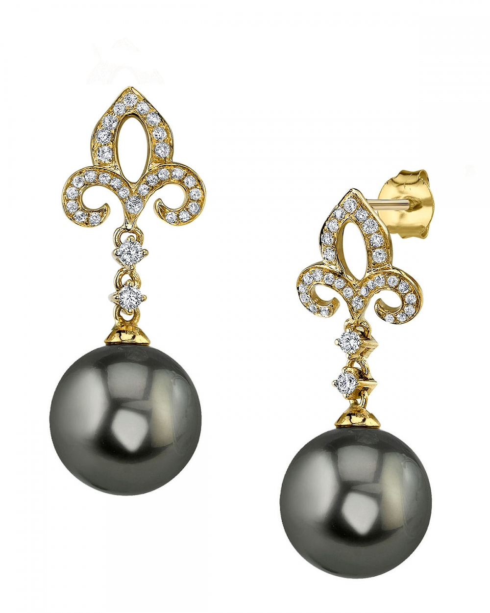 Tahitian South Sea Pearl Earrings The Pearl Source