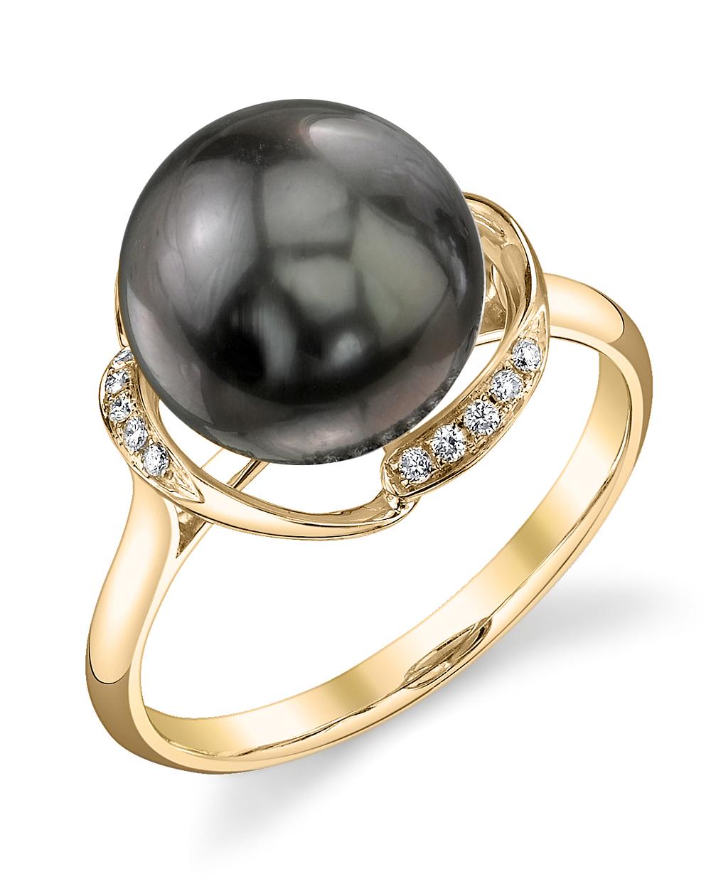 tahitian south sea pearl diamond ruby ring. Black Bedroom Furniture Sets. Home Design Ideas