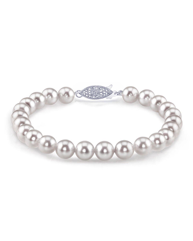 4a8d77889 7.5-8.0mm Akoya White Pearl Bracelet